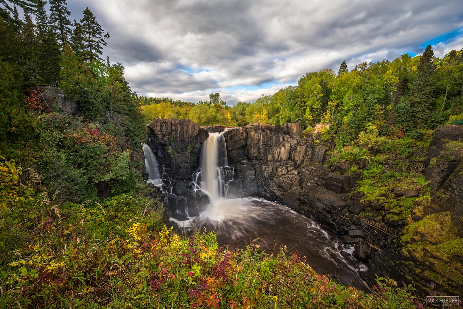Pigeon River High Falls, Minnesota, Ontario, Autumn Rush, Canada, Lake Superior, Waterfall, photo