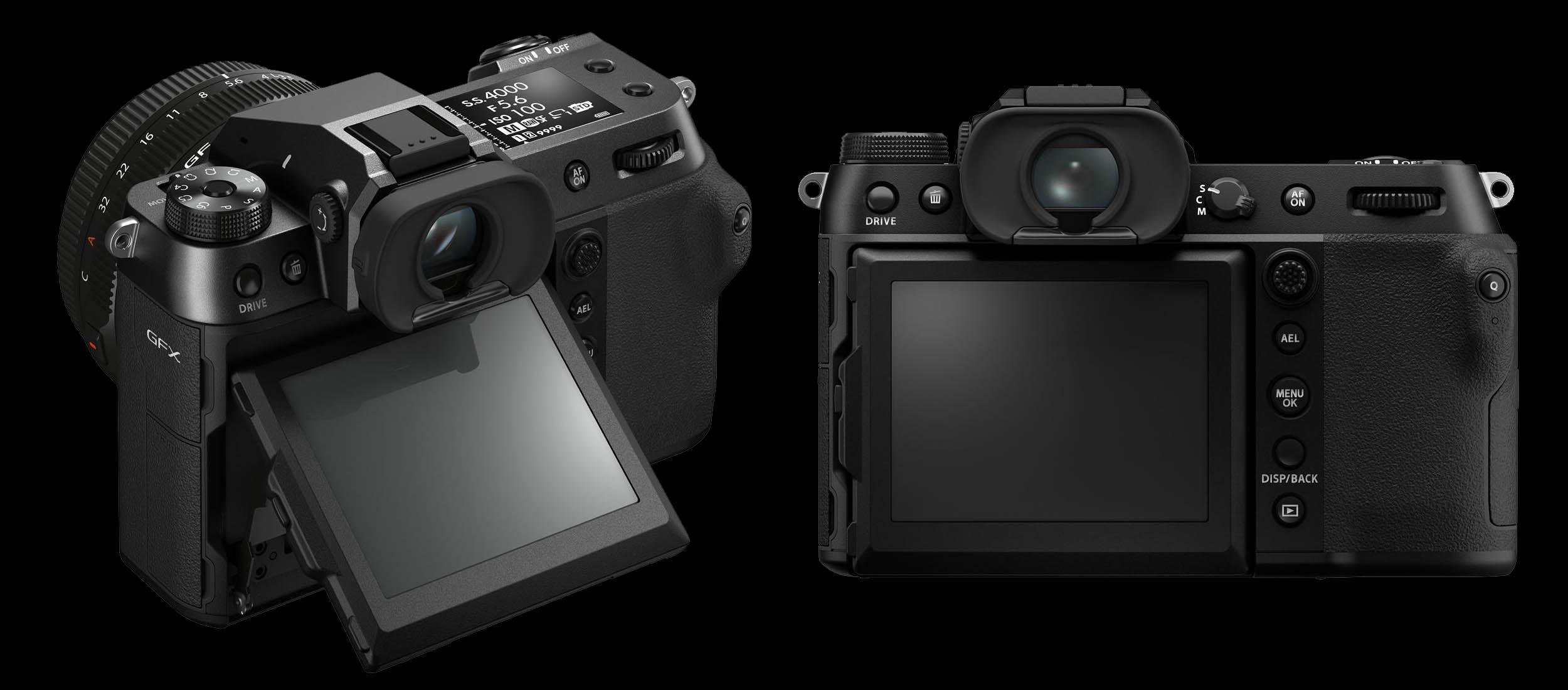 Back Views of the New Fujifilm GFX100S 102MP Medium Format Camera