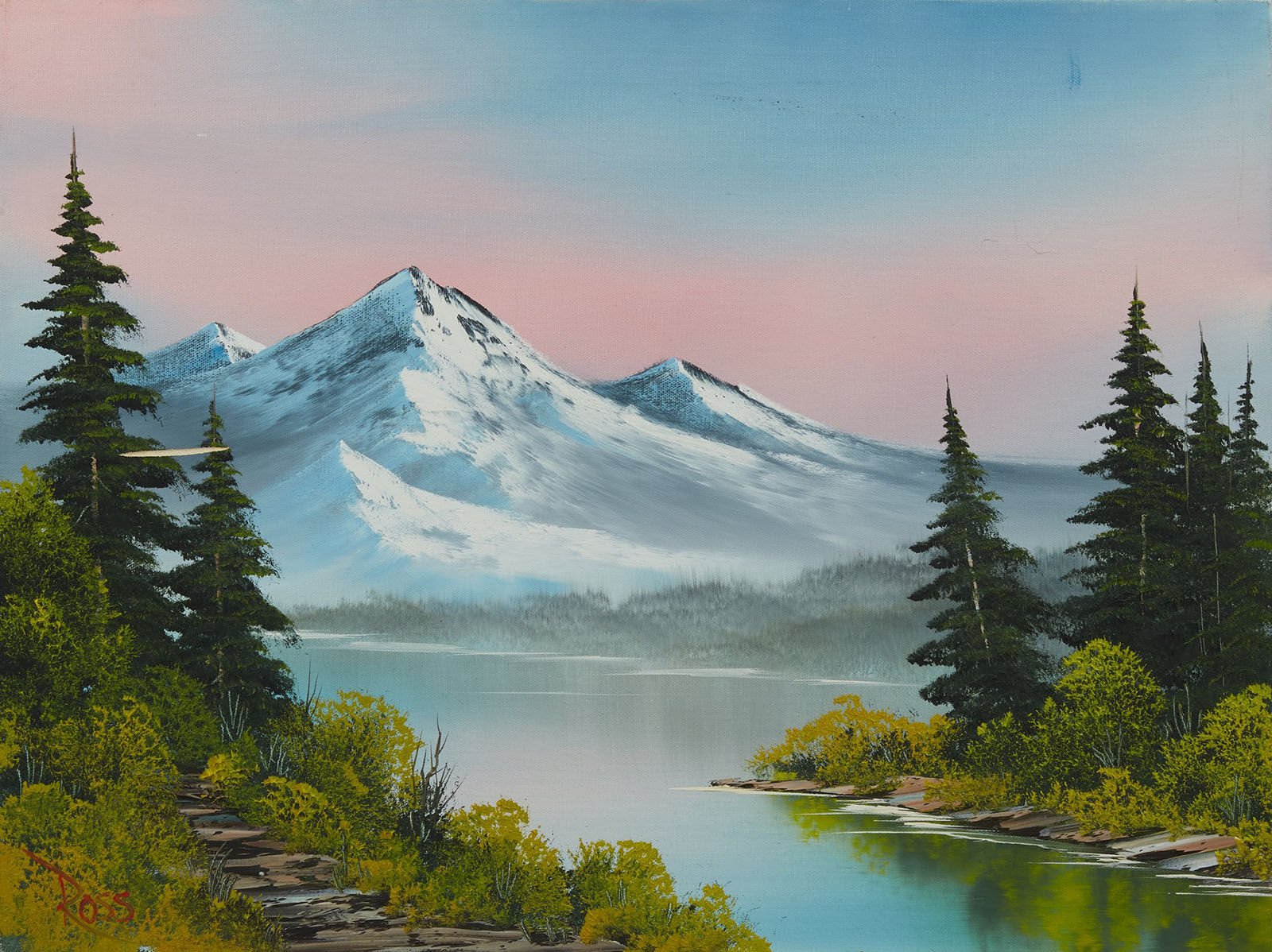 Bob Ross, Forest Hills, Original Oil Painting, 1989. Image Used with Permission © Modern Artifact.