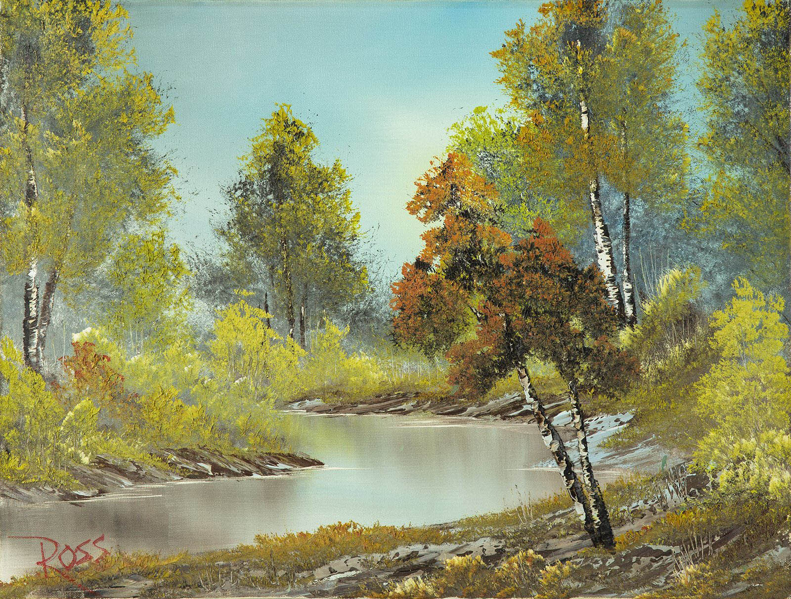 Bob Ross, Lazy River, Original Oil Painting, 1982. Image Used with Permission © Modern Artifact.