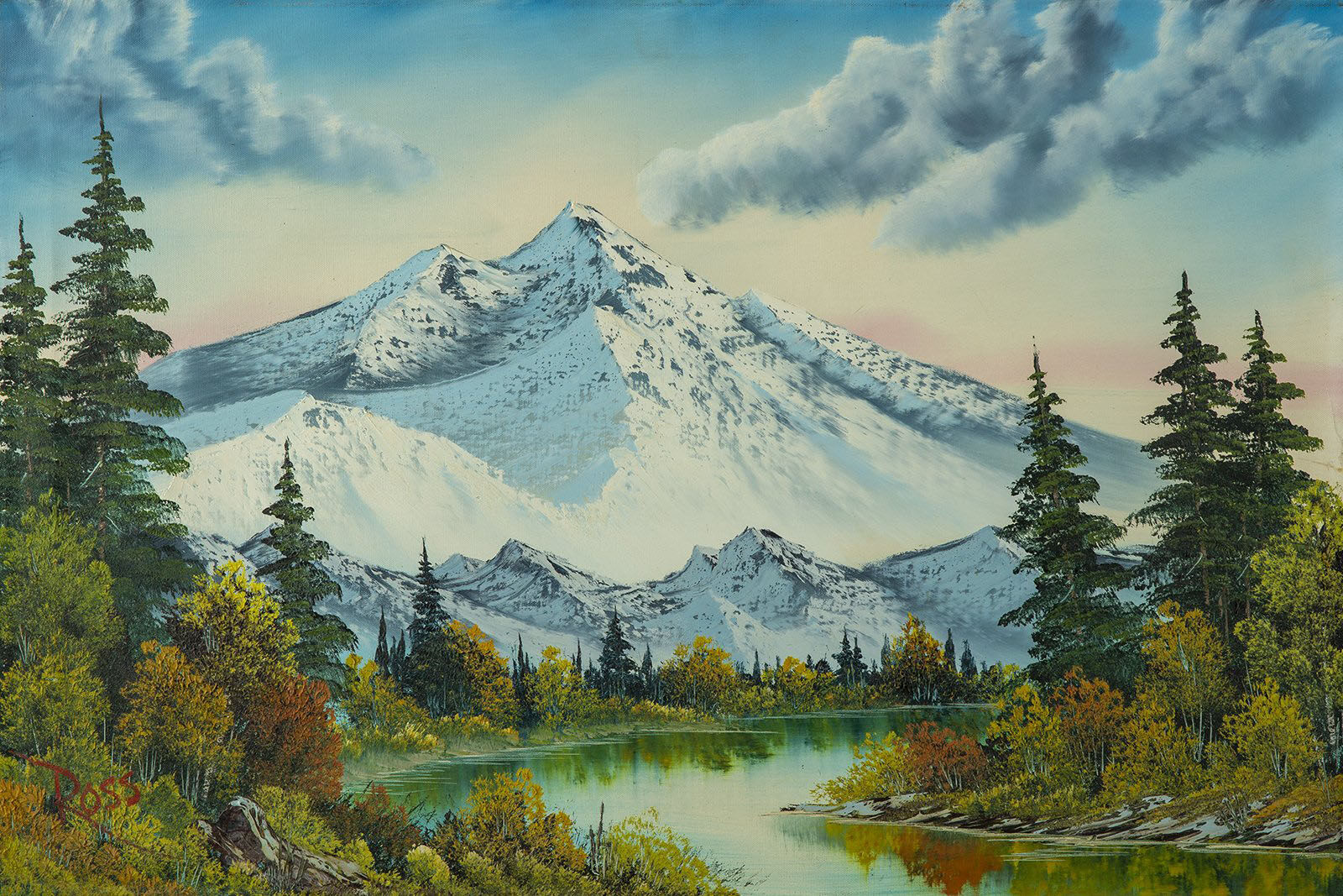 Bob Ross, Mountain Summit, Original Oil Painting, 1982. Image Used with Permission © Modern Artifact.