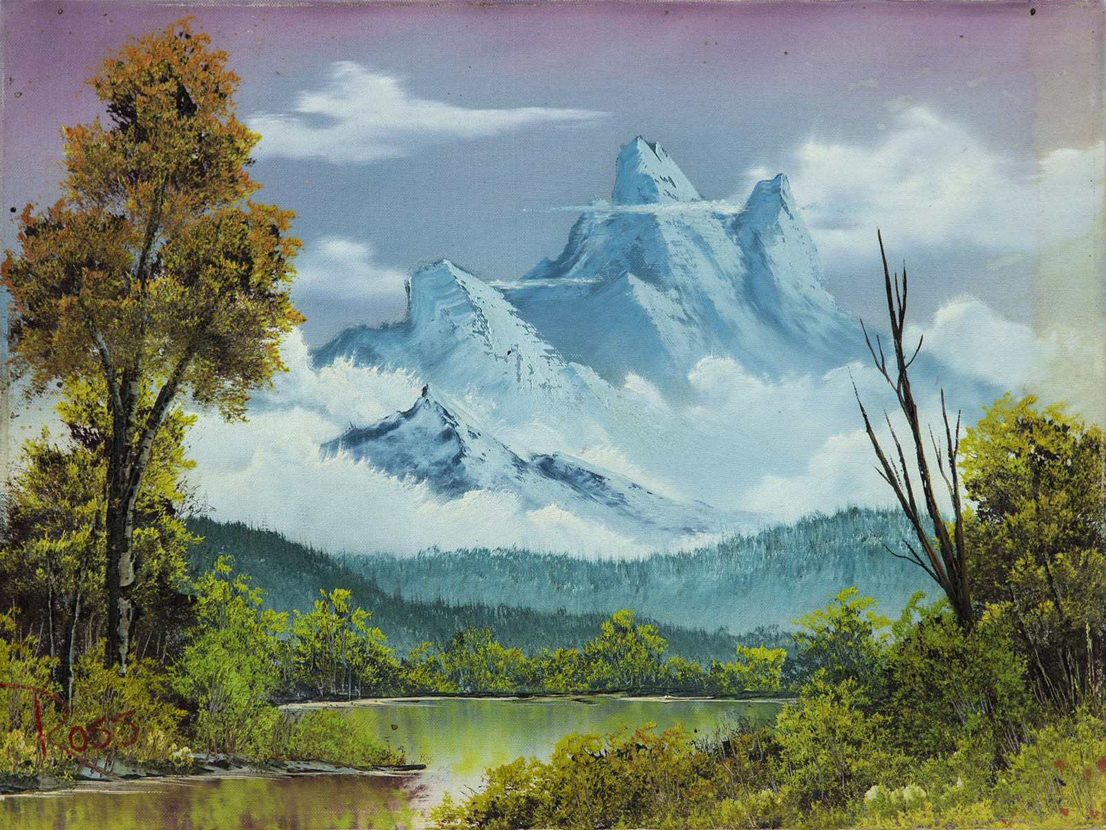 Bob Ross, Towering Peaks, Original Oil Painting, 1980. Image Used with Permission © Mode