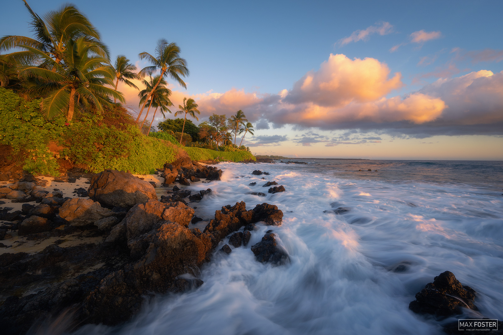 Fine Art Limited Edition of 50 Makena Beach is a popular spot for sunbathing and bodyboarding by both tourists and locals. Also...
