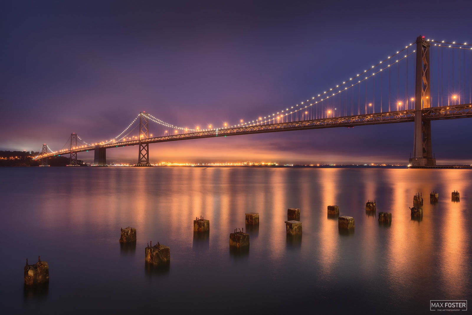 Fine Art Limited Edition of 50 The San Francisco–Oakland Bay Bridge, known locally as the Bay Bridge or as the Emperor Norton...