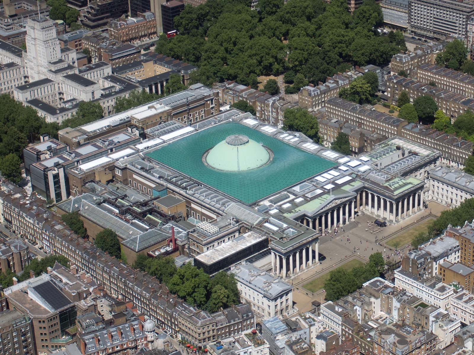 Aerial shot of the British Museum, London. © Luke Massey / CC-BY-SA-2.0