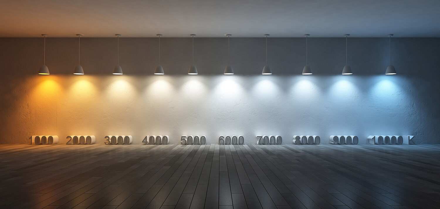 Bulb Color Temperature Range from 1000K-10000K