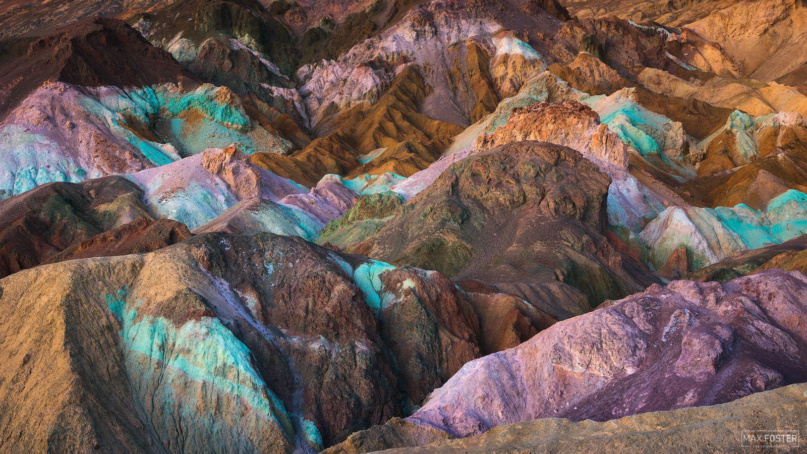 Death Valley National Park, Artist's Palette, California, Badlands, Colorswirl, photo