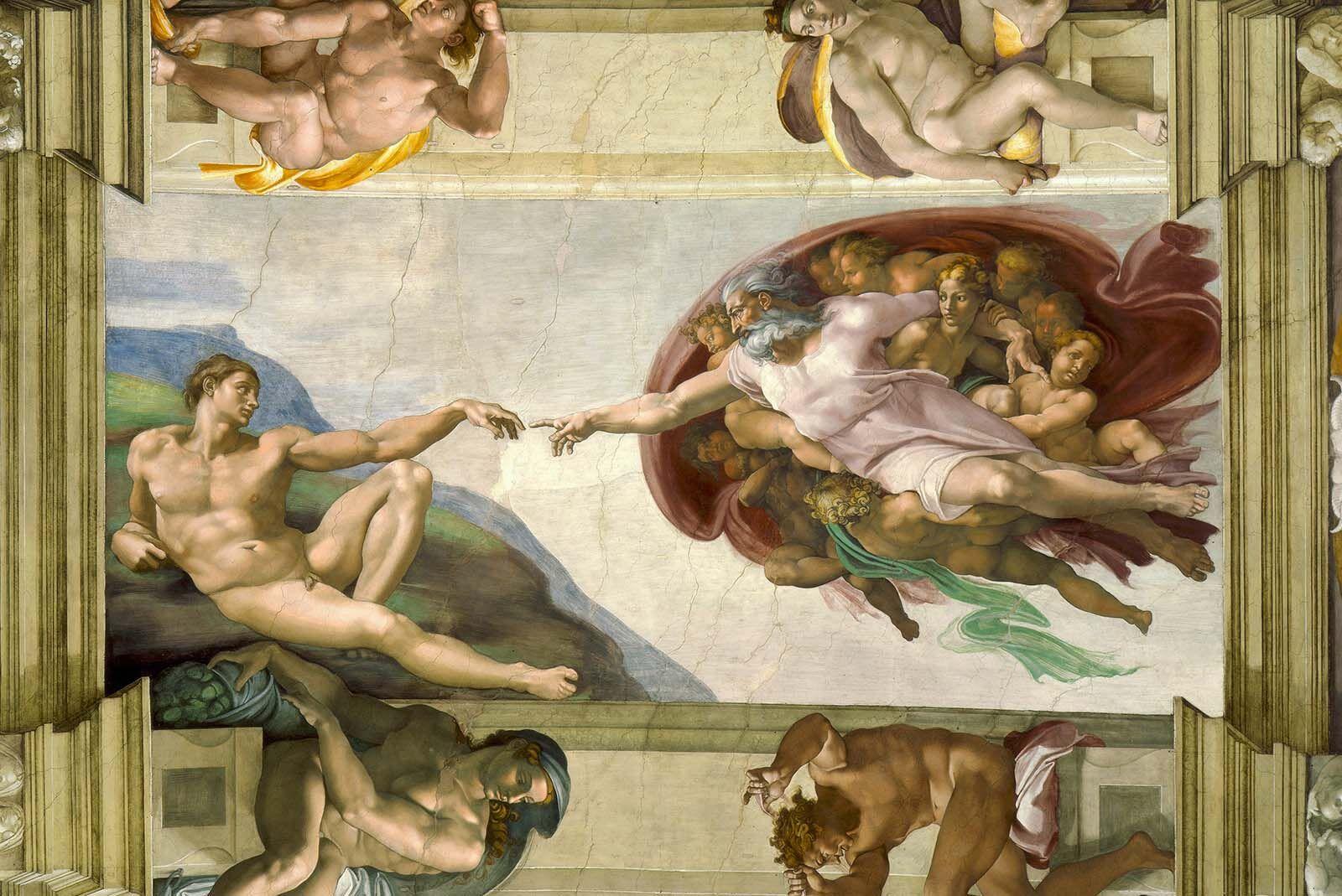 Michelangelo, The Creation of Adam, c. 1512, Sistene Chapel, Vatican Museums