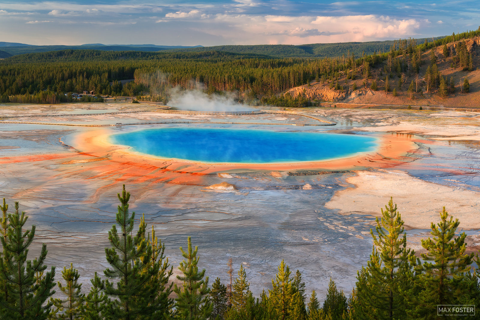 Fine Art Limited Edition of 50 The Grand Prismatic Spring in Yellowstone National Park is the largest hot spring in the United...
