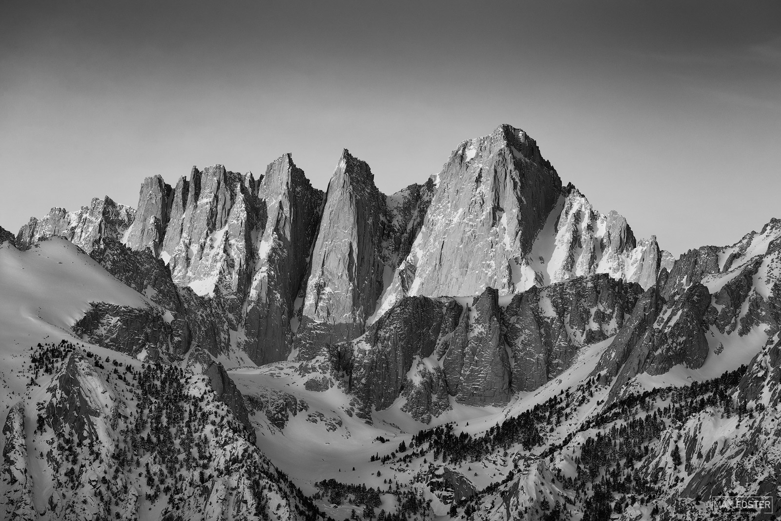 Mount Whitney, California, Sierra Nevada, Mountain, Inyo, Tulare, First Light, John Muir, Black and White, Monochrome, photo