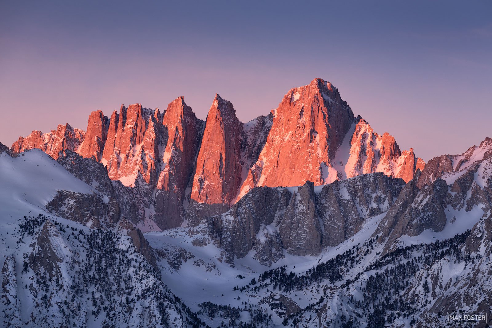 Fine Art Limited Edition of 50 Mount Whitney is the tallest mountain in the contiguous United States and the Sierra Nevada, with...