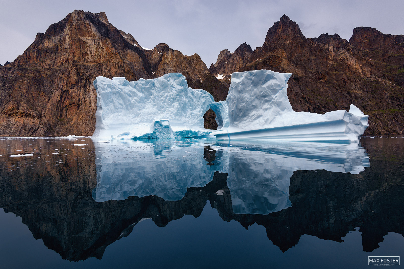 Fine Art Limited Edition of 50  Many glaciers terminate at oceans or freshwater lakes which results in the calving of large numbers...
