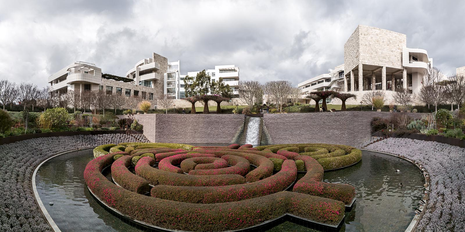 The Getty Center as seen from the Central Garden