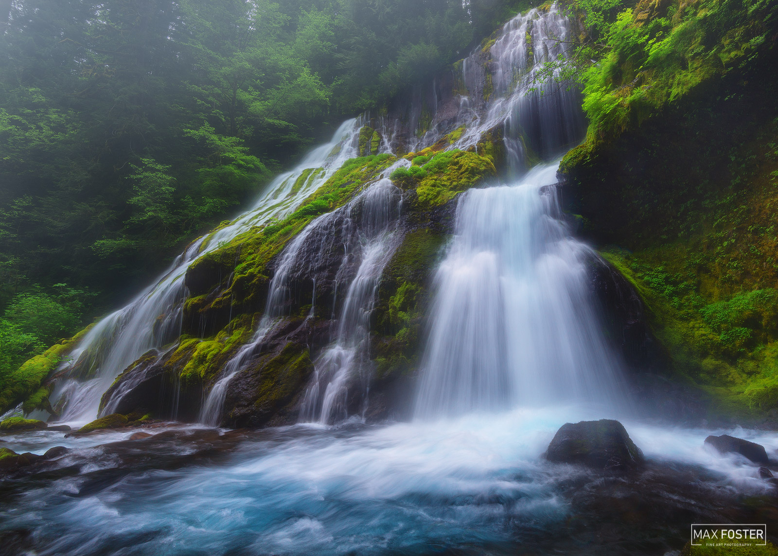 Panther Creek Falls, Washington, Waterfall, Into the Mist, Wind River Valley, photo