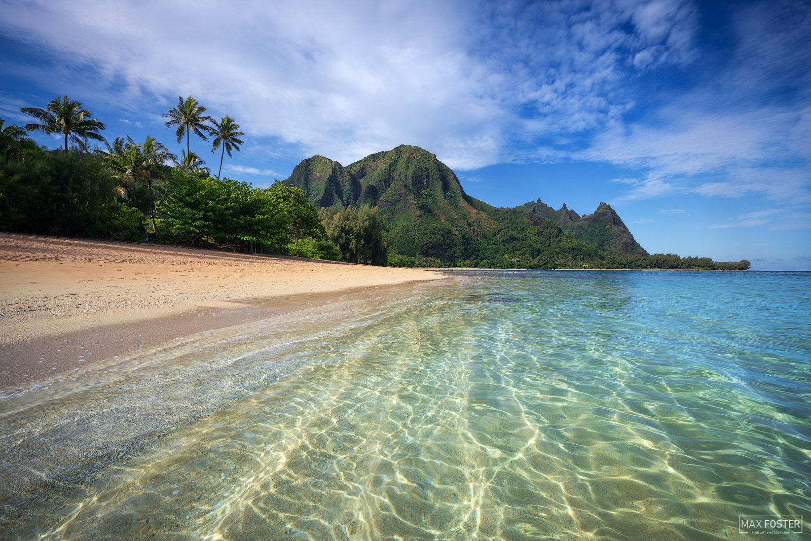 Bring your walls to life with Island In The Sun, Max Foster's limited edition photography print of Tunnels Beach, Kauai from...