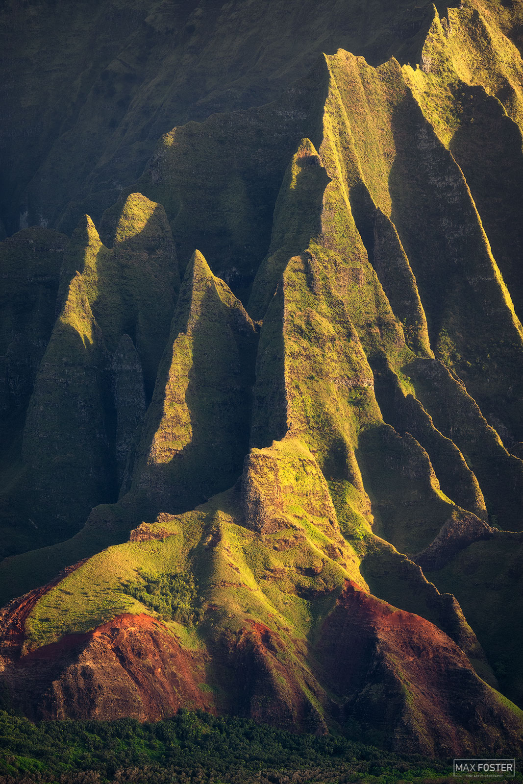Fine Art Limited Edition of 50 Although inaccessible to vehicles, the Na Pali coast can be enjoyed by hiking, by helicopter...