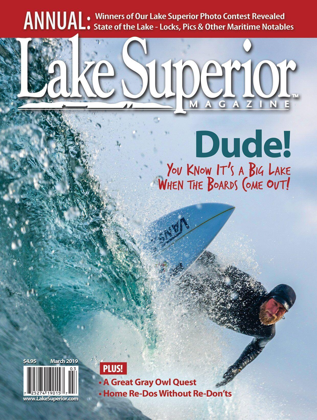Lake Superior Magazine, March 2019, Minnesota Imagery, Superior Vista, Palisade Head, photo