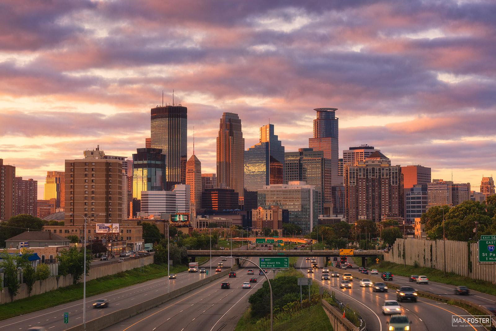 Minnesota, Minneapolis Sunset, Twin Cities, Saint Paul, Midwest, photo