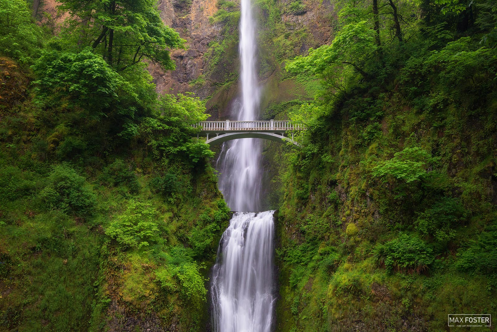 Fine Art Limited Edition of 50 Multnomah Falls is a waterfall located on Multnomah Creek in the Columbia River Gorge, east of...