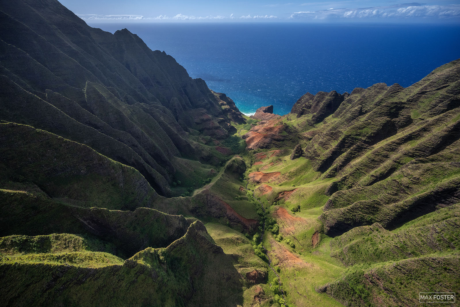 Fine Art Limited Edition of 50 The Kalalau Valley is located on the northwest side of the island of Kauai in Nā Pali Coast State...
