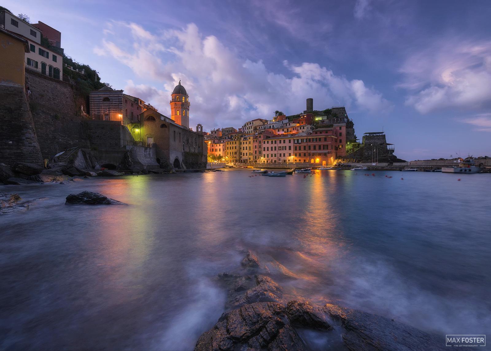 Vernazza, Cinque Terre, Italy, New Dawn, Liguria, Ligurian Sea, Sea, Dawn, photo