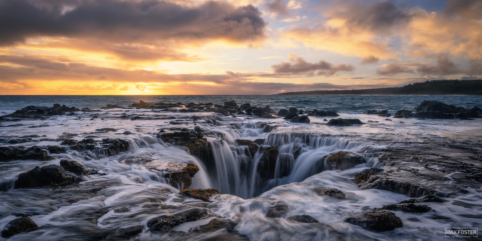 Fine Art Limited Edition of 100 The panoramic format version of Ocean Eye, was taken off the coast of Kauai, Hawaii. Photo ©...