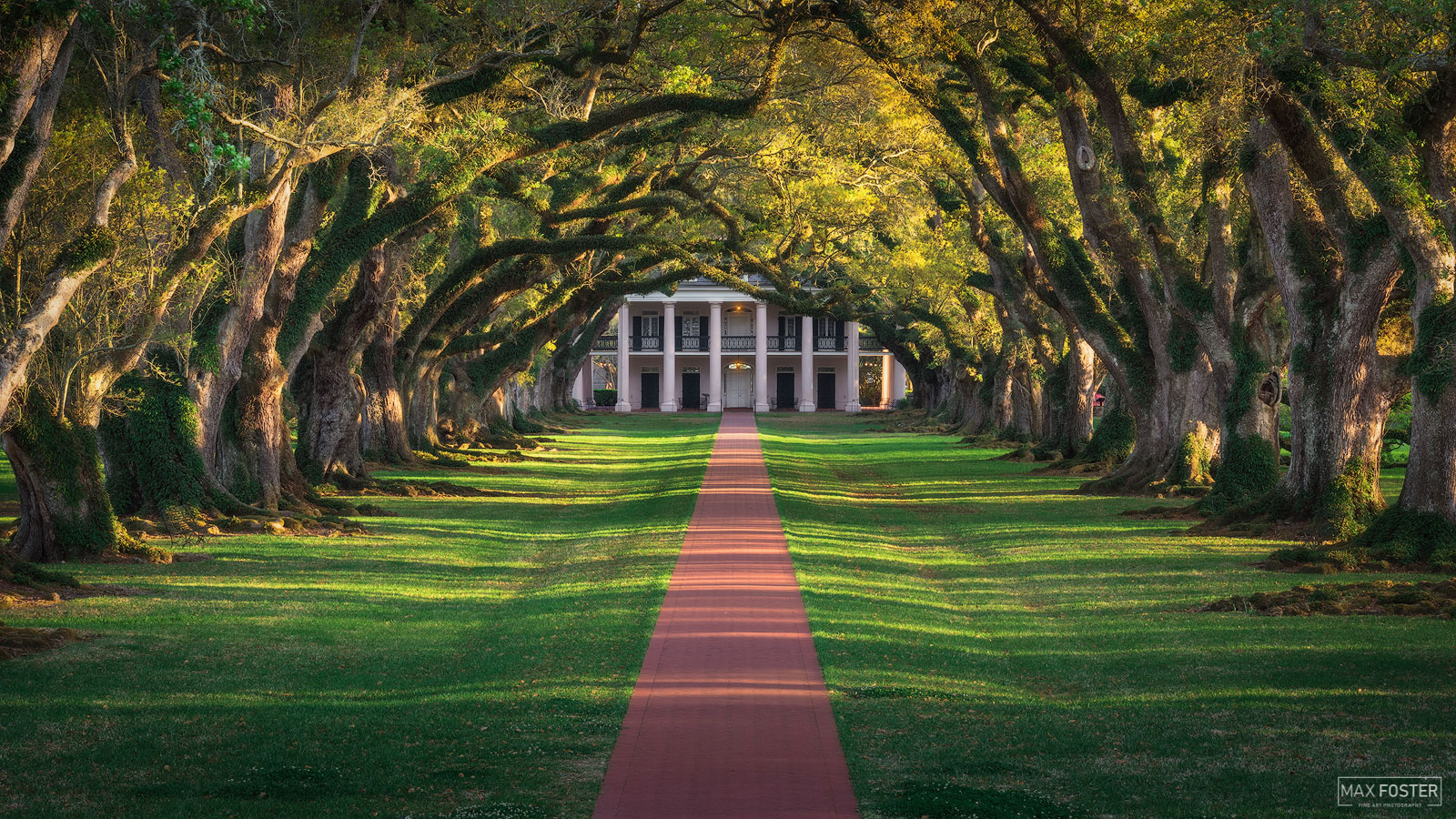 Fine Art Limited Edition of 50 Oak Alley Plantation is a historic plantation located on the west bank of the Mississippi River...