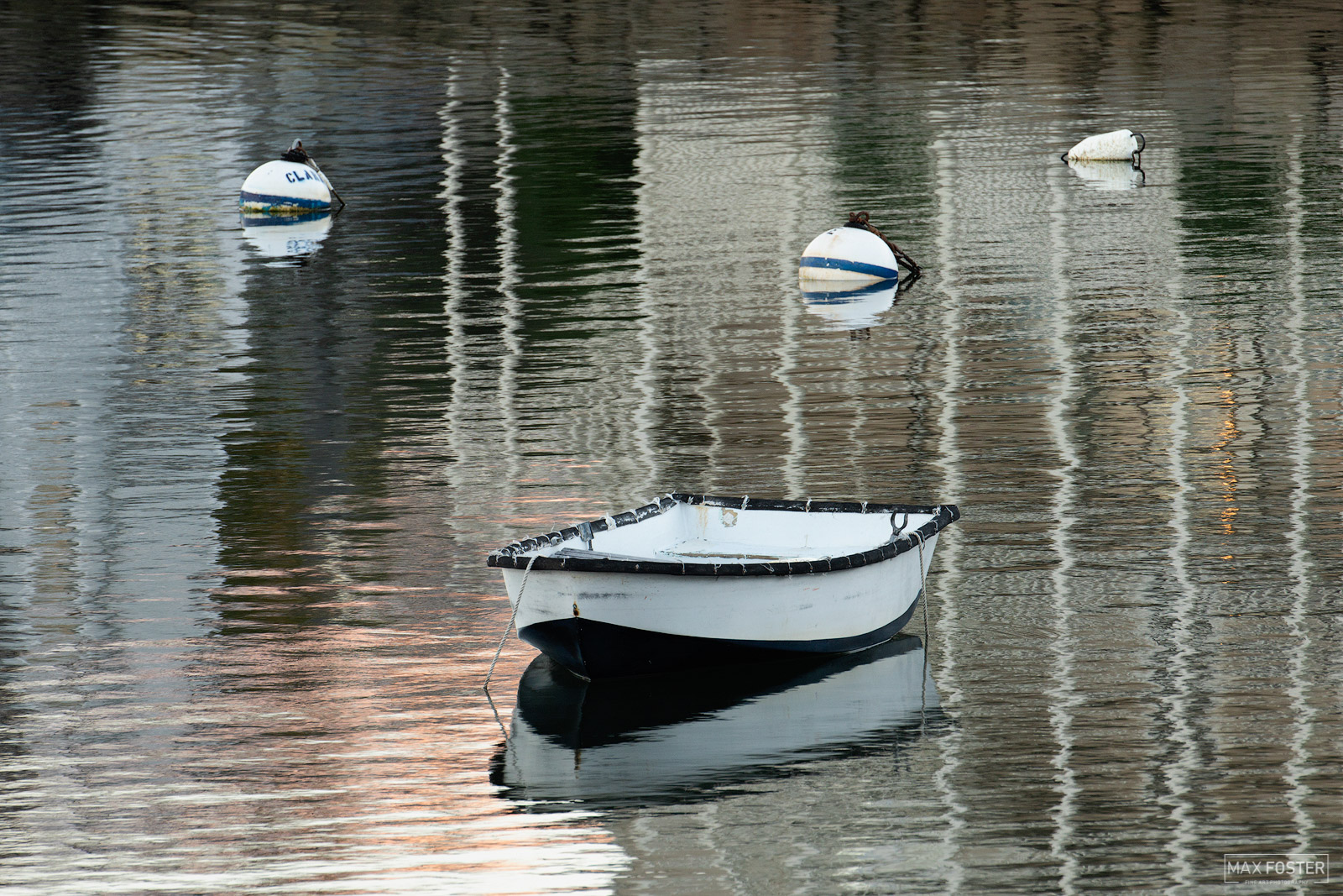 Fine Art Limited Edition of 100 This image of a lone boat was taken on a calm evening in Rockport Harbor, Massachusetts. Rockport...