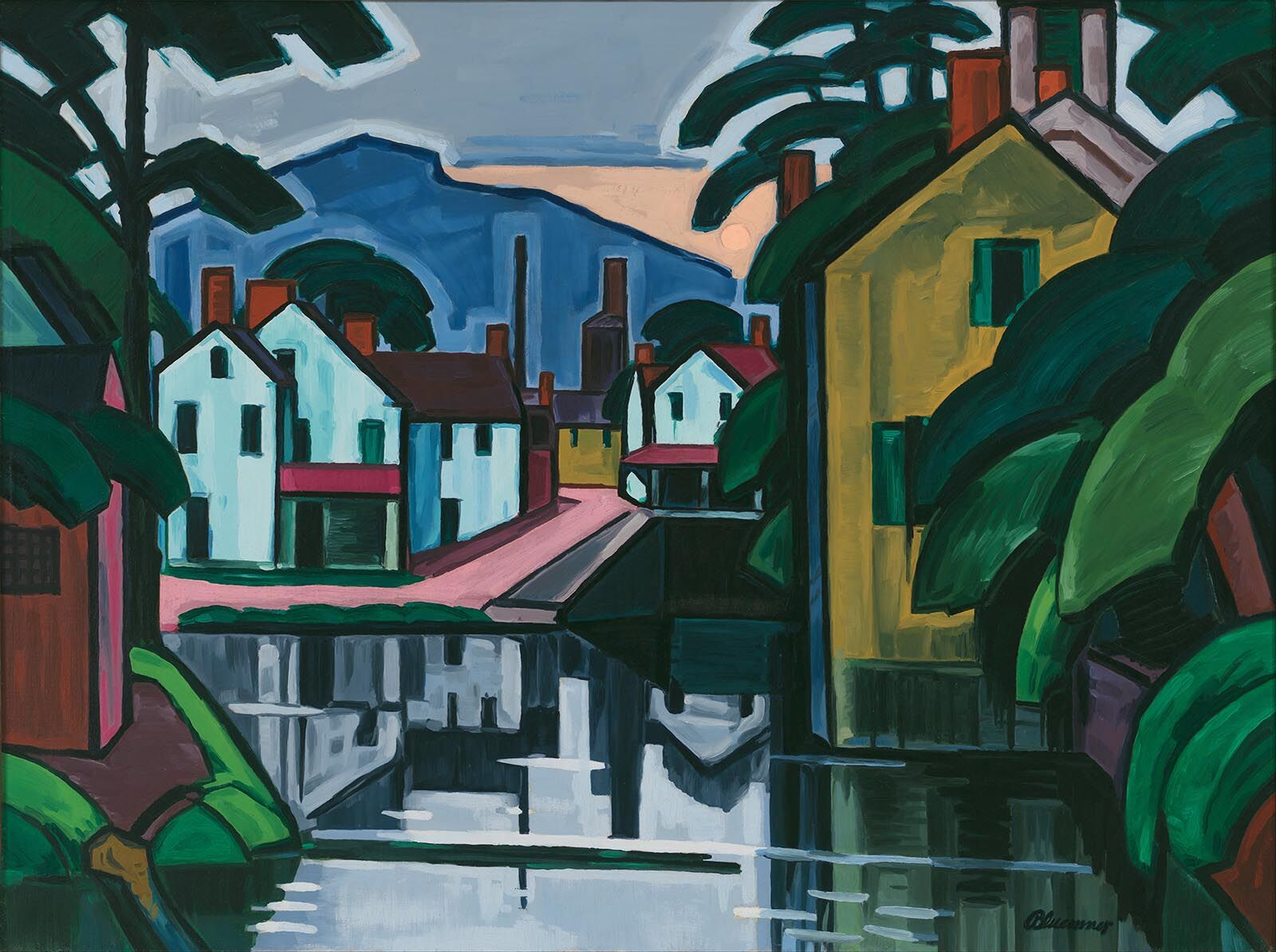 Oscar Bluemner, Old Canal Port, 1914, Whitney Museum of American Art