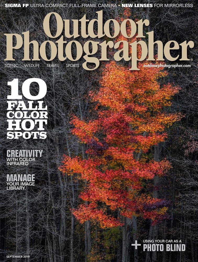 Outdoor Photographer Magazine, Arctic Breeze, September 2019, Greenland Adventure Photography, photo