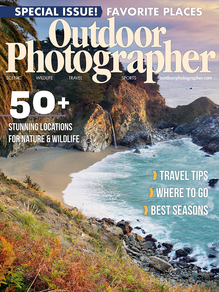 Outdoor Photographer Magazine, Special Issue 2019, Stunning Locations for Nature & Wildlife, Trillium Lake, Trillium Twilight, photo