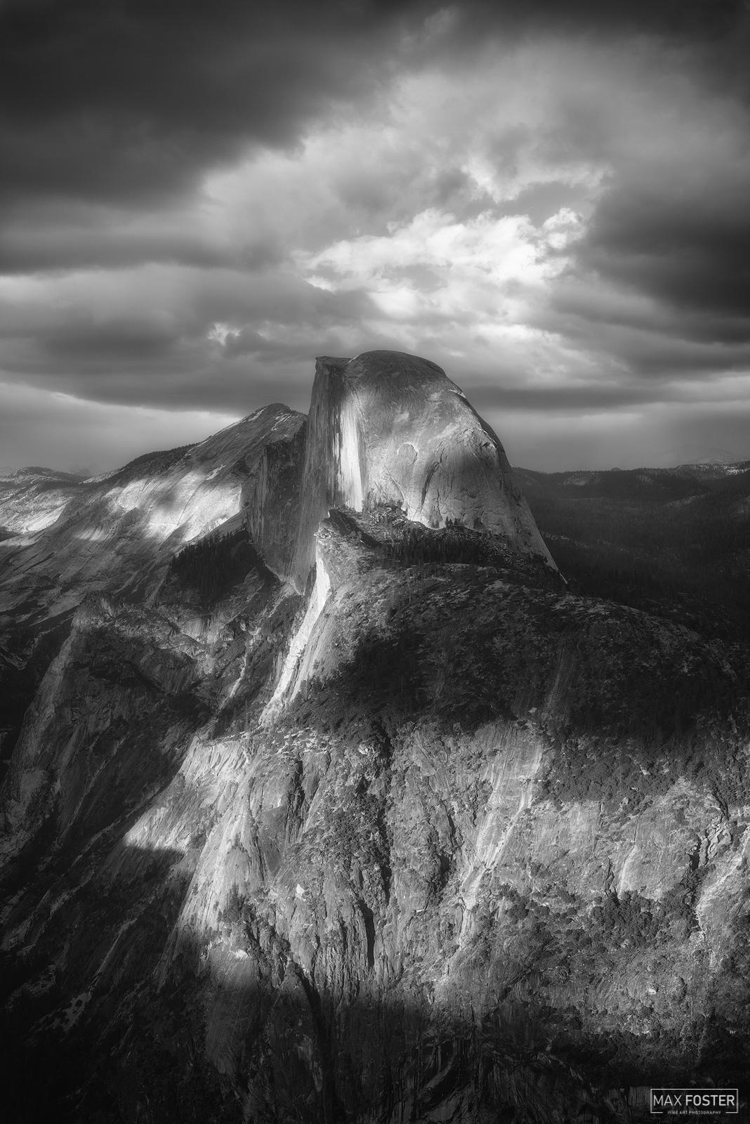 Yosemite National Park, California, Phantom, Half Dome, Yosemite Valley, Black and White, photo
