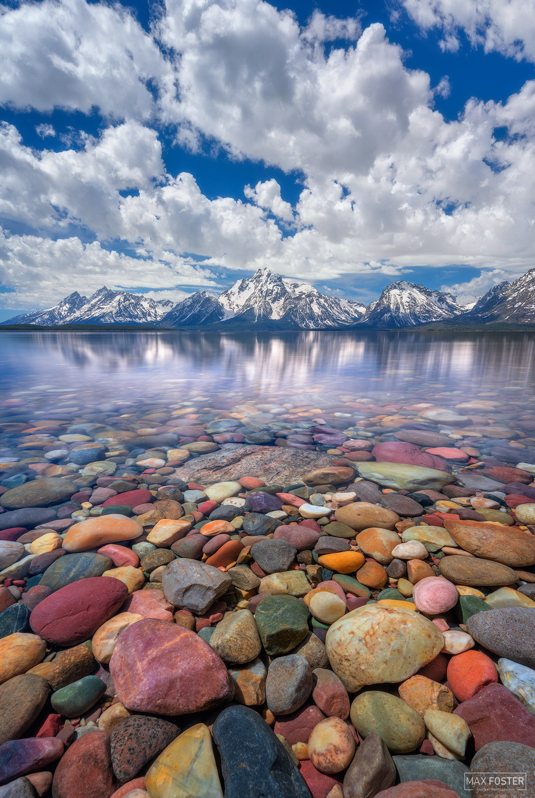 Jackson Lake, Grand Teton National Park, Wyoming, Rainbow Rocks, Colored Rocks, Pebbles, photo