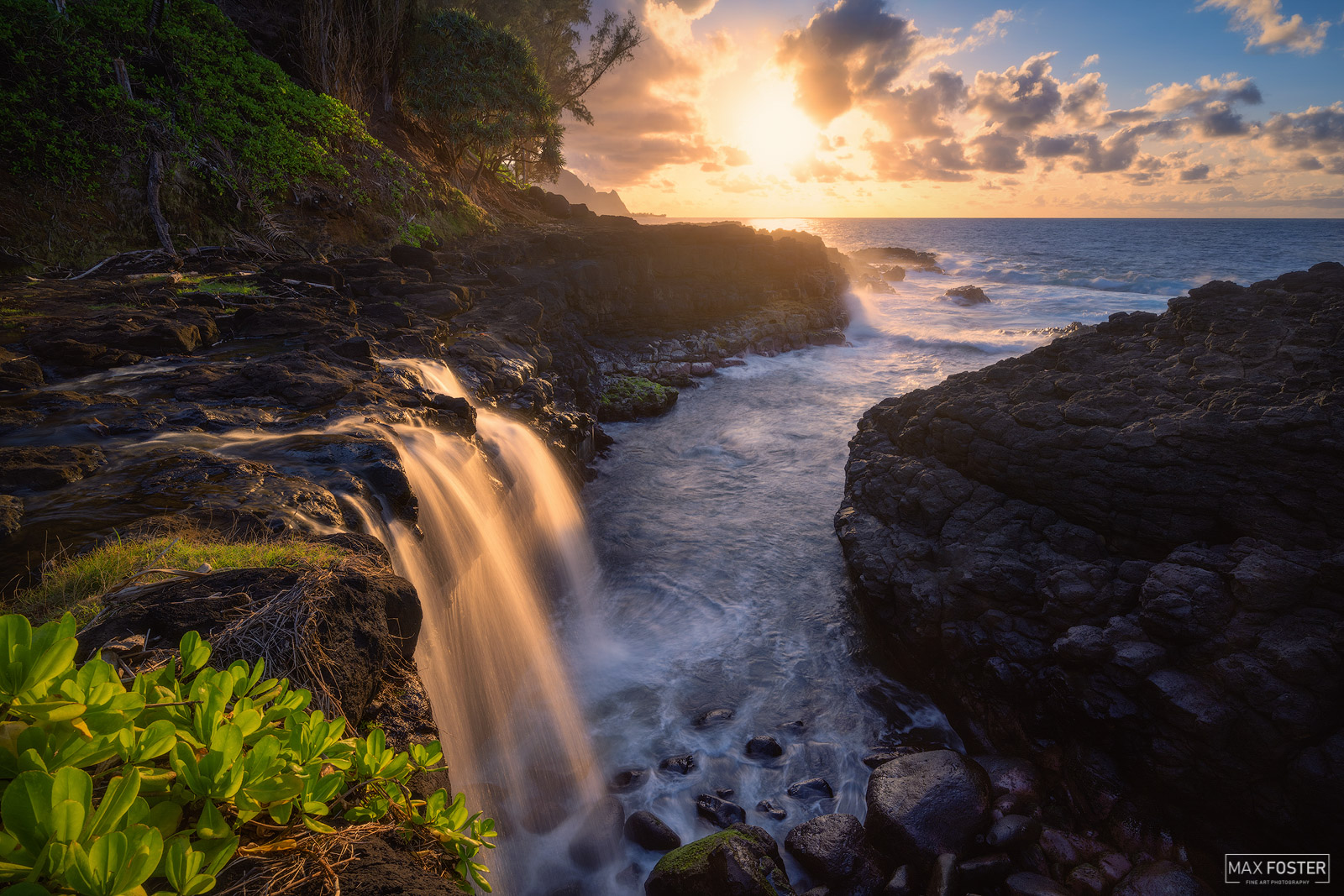 Fine Art Limited Edition of 50 Queen's Bath is a unique tide pool on the island of Kauaʻi, Hawaii located on the north shore...