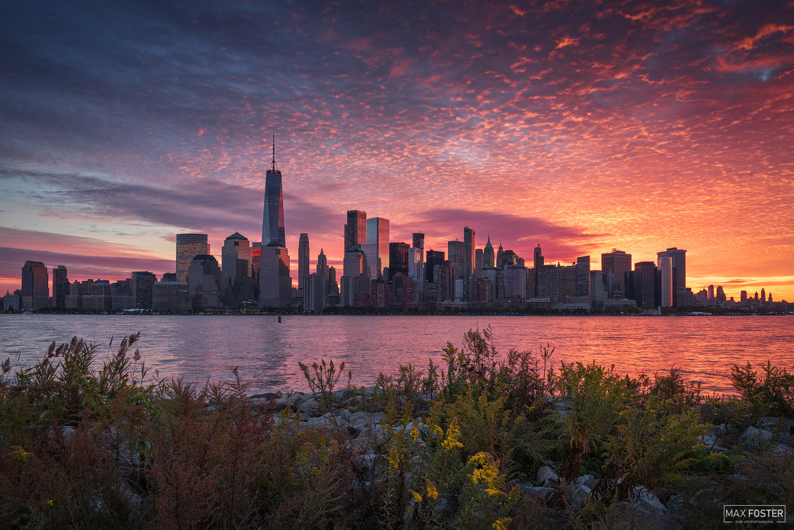 New York City Skyline, Manhattan Skyline, Rise and Shine, Hudson River, NYC Skyline, photo