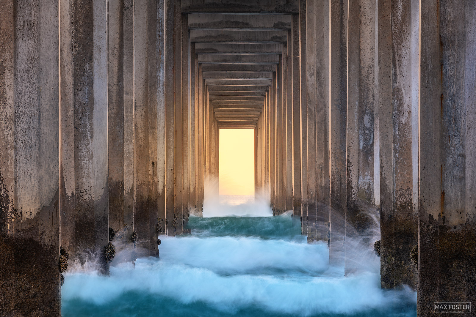 Fine Art Limited Edition of 100 This image is taken at the world-famous Scripps Pier located at the Scripps Institute of Oceanography...