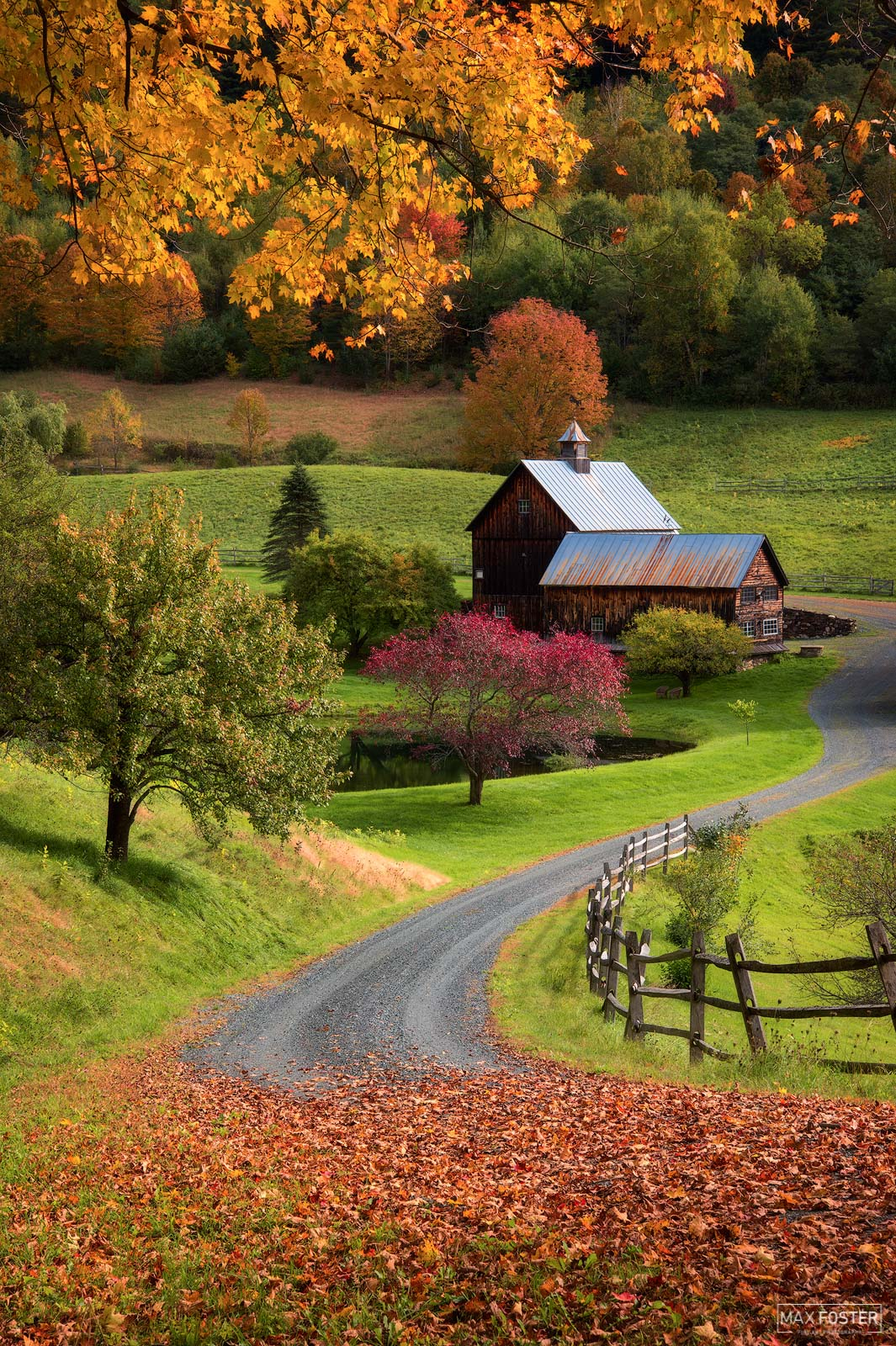 Woodstock, Vermont, Sleepy Autumn, Fall, Seasons, Shedding of Leaves, photo