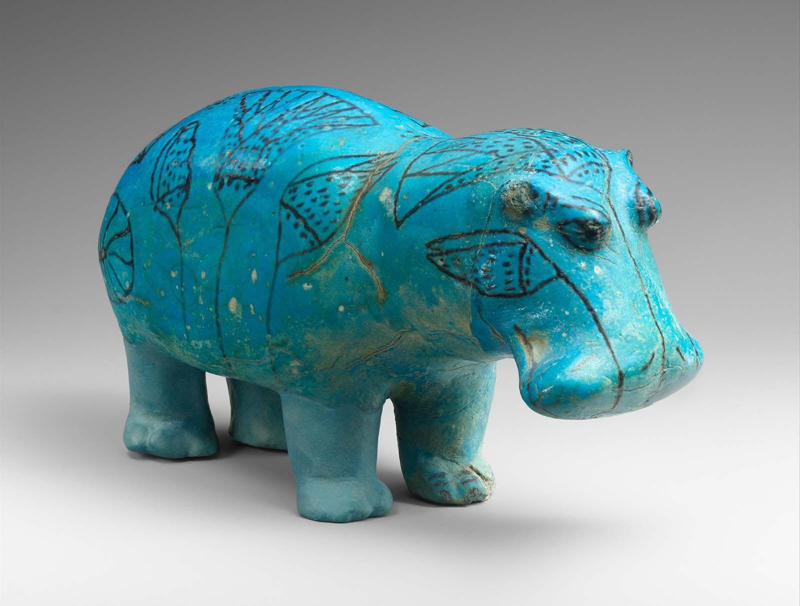 William the Faience Hippopotamus, c.1961 BC – c.1878 BC, Metropolitan Museum of Art