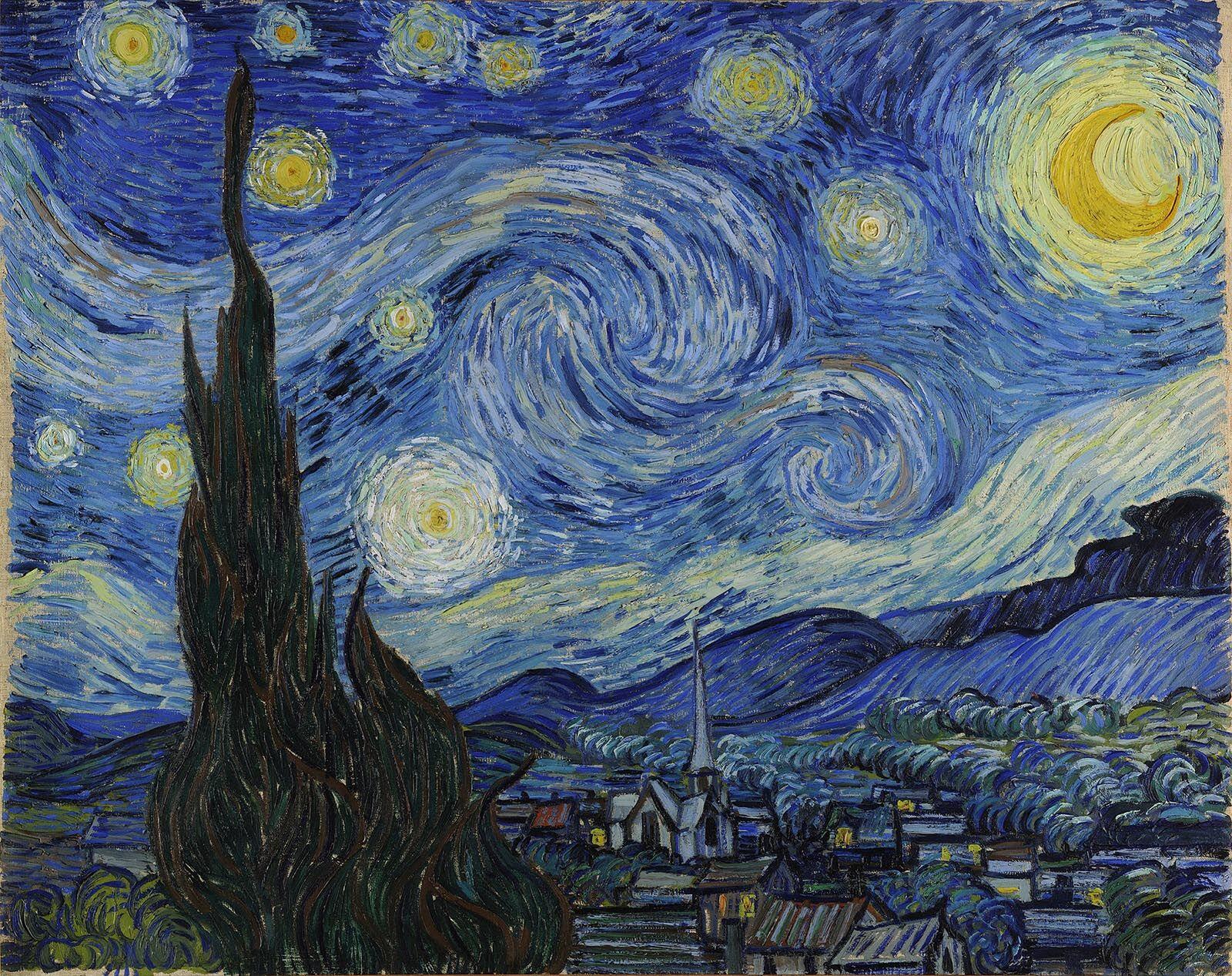 Vincent Van Goh, The Starry Night, 1889, The Museum of Modern Art