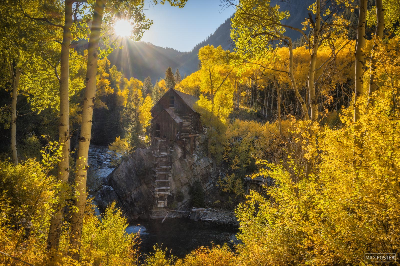 Crystal River, Colorado, Crystal Mill, Watermill, Old Mill, Powerhouse, Sunshine Factory, Aspen Trees, photo