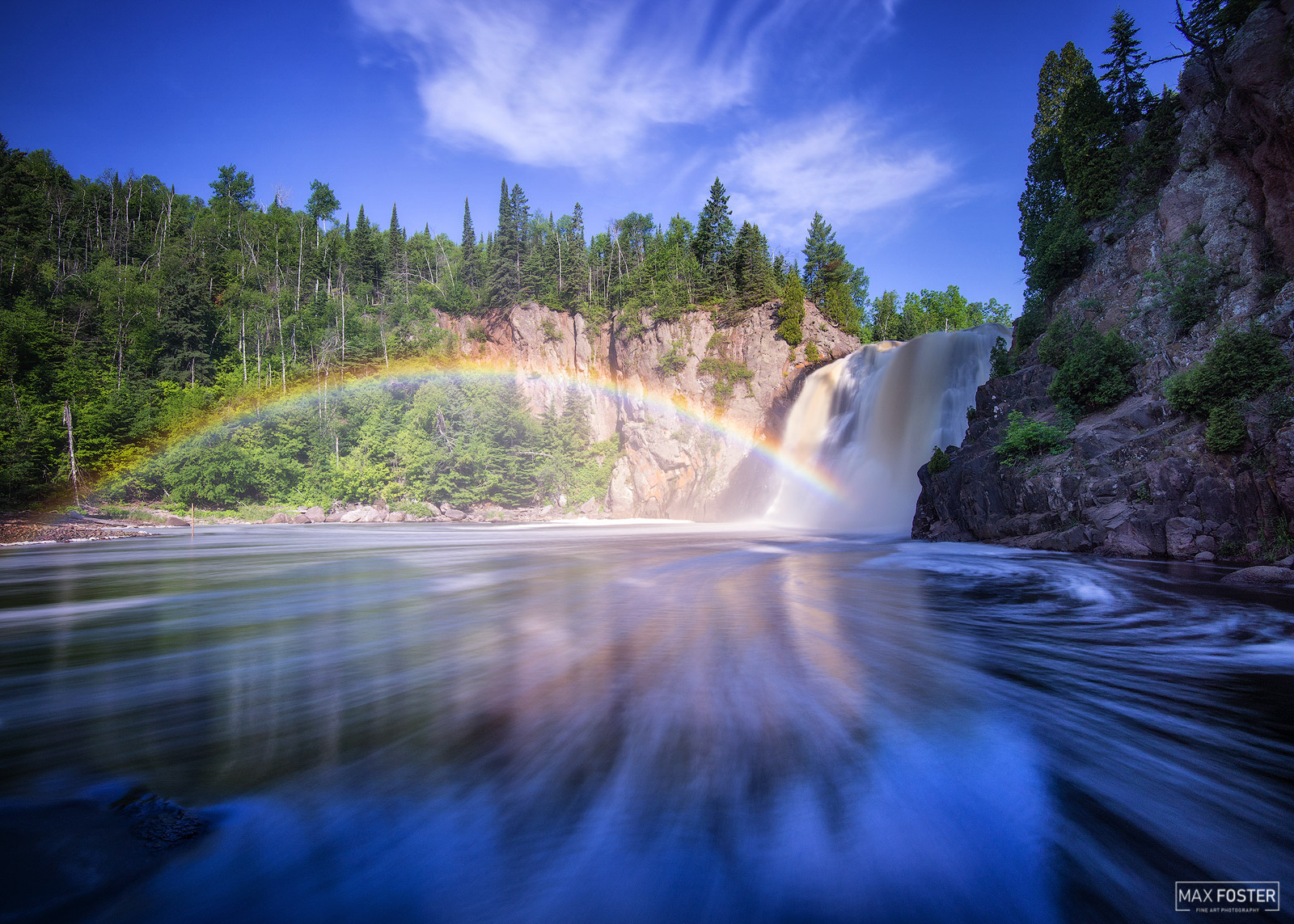 Tettegouche State Park, Minnesota, Baptism River, Waterfall, High Falls, Taste The Rainbow, Pigeon River, photo