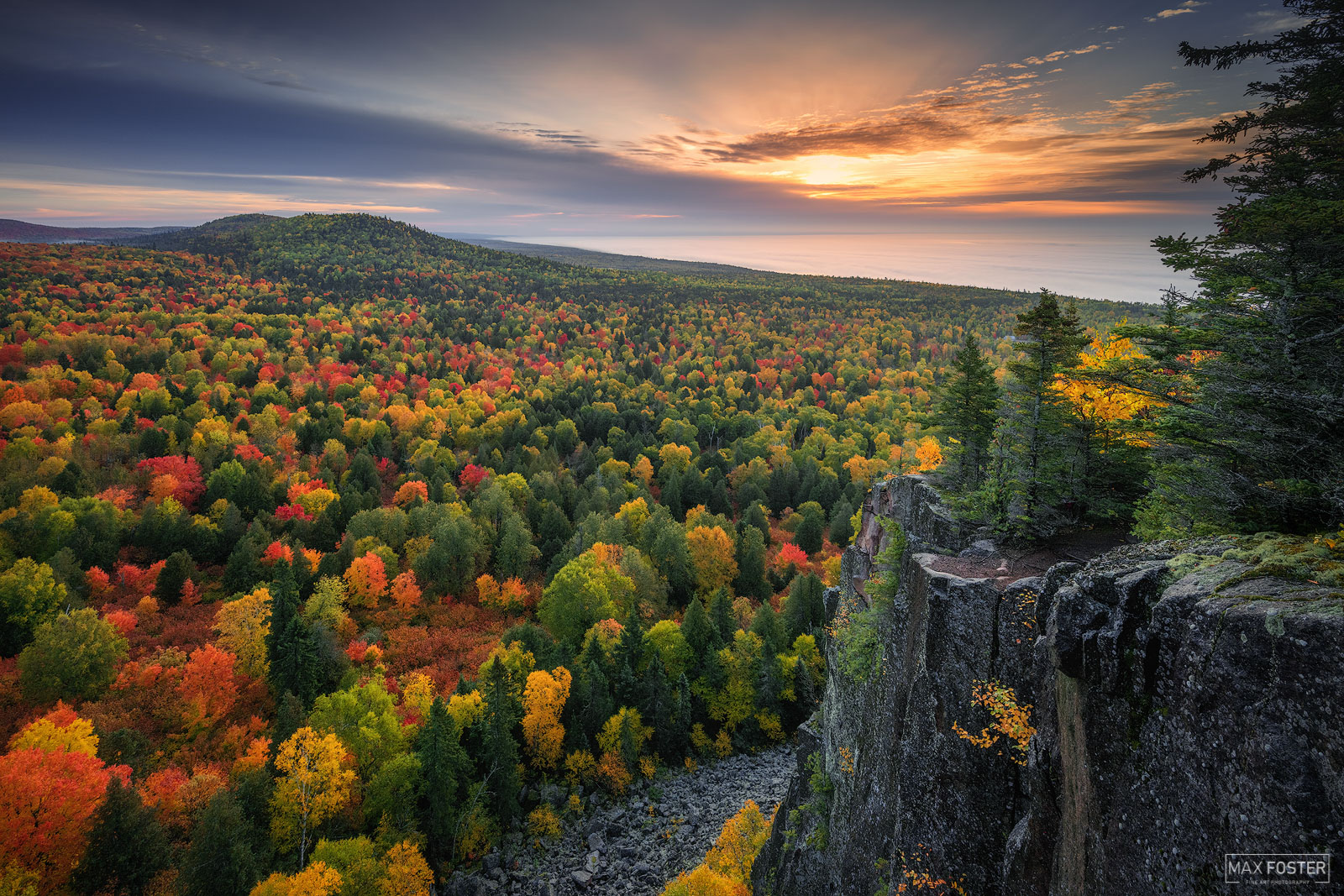 Fine Art Limited Edition of 50  Oberg Mountain is a peak on the North Shore of Minnesota within the Superior National Forest...