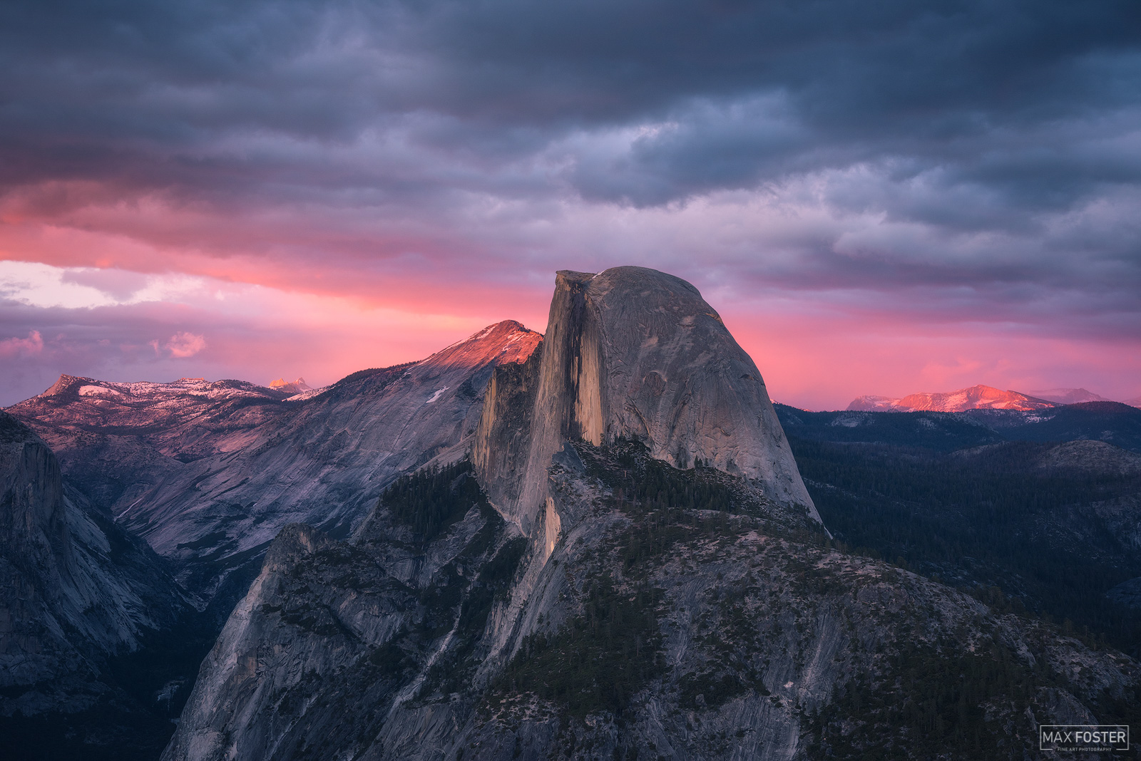 Yosemite National Park, California, Half Dome, Granite Dome, Yosemite Valley, Glacier Point, The Sentinel, photo