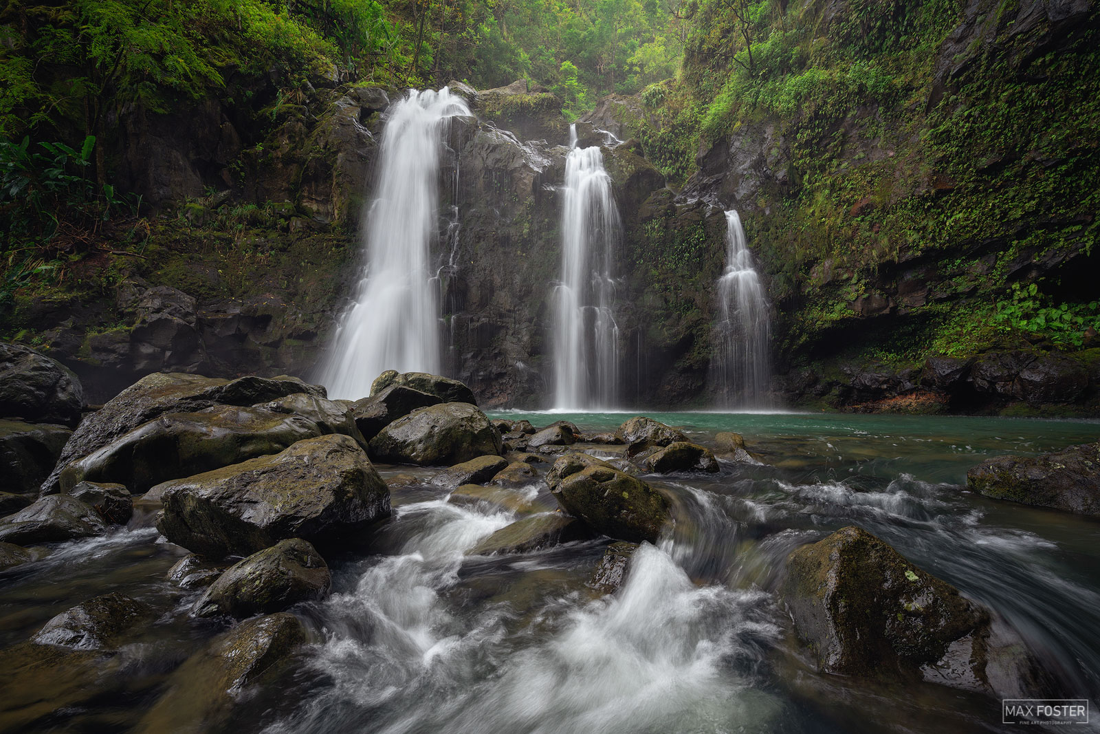 Upper Waikani Falls, Maui, Hawaii, Hana Highway, Waterfalls, Treasures of the Isles, photo