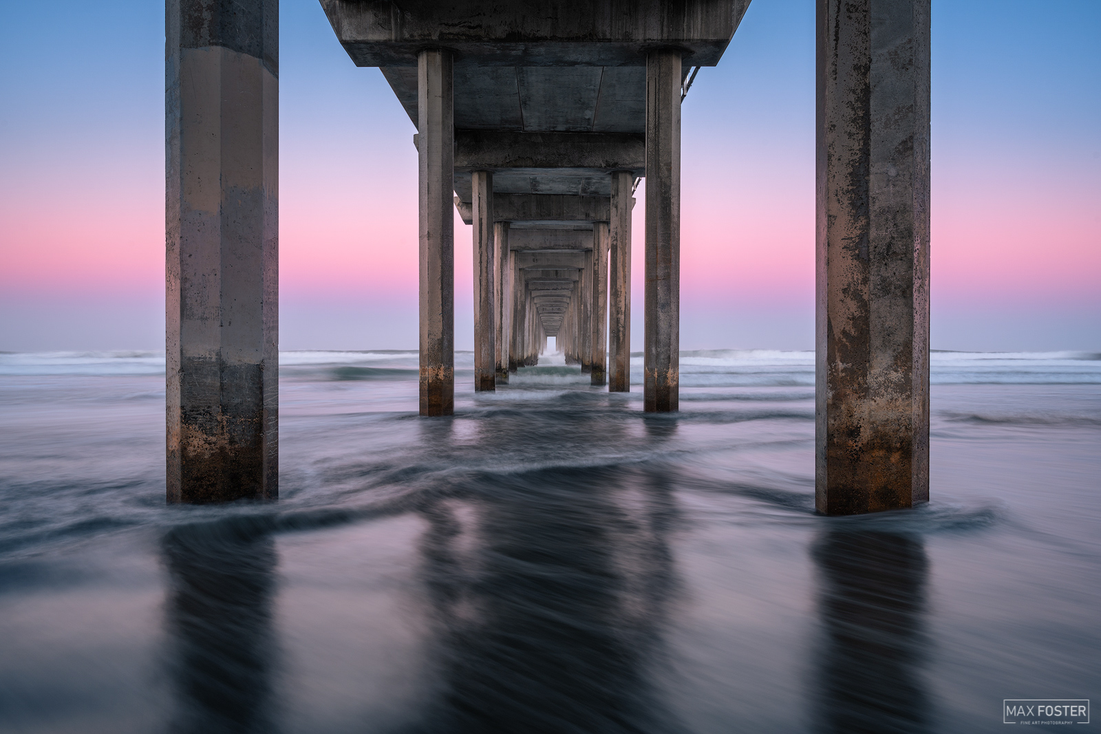 Fine Art Limited Edition of 100 This image is taken at the famous Scripps Pier on the Pacific Ocean in La Jolla, California....