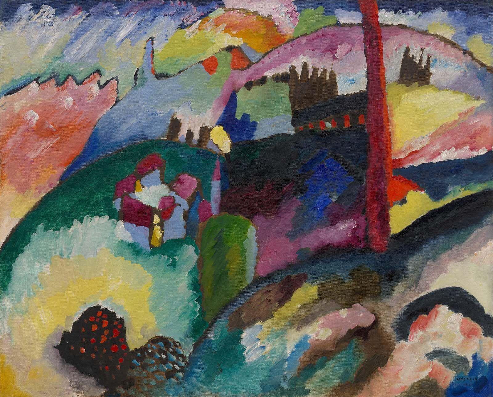 Wassily Kandinsky, 1910, Landscape with Factory Chimney