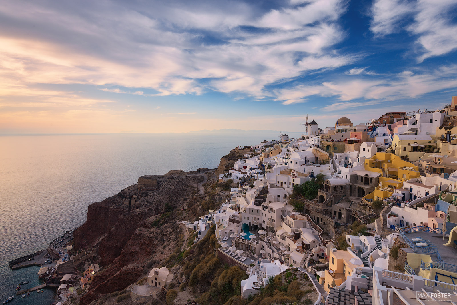 Oia Skyline, Santorini Sunset, Greece, Wish You Were Here, Greek Island, Aegean Sea, Cyclades, photo
