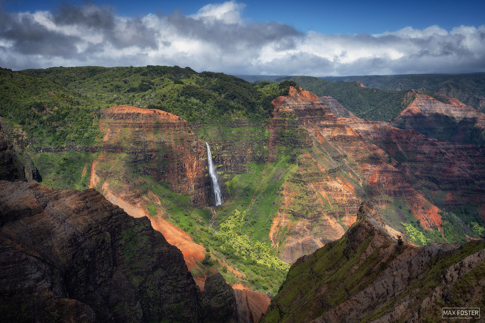 Fine Art Limited Edition of 50 Waimea Canyon, also known as the Grand Canyon of the Pacific, is a large canyon, approximately...