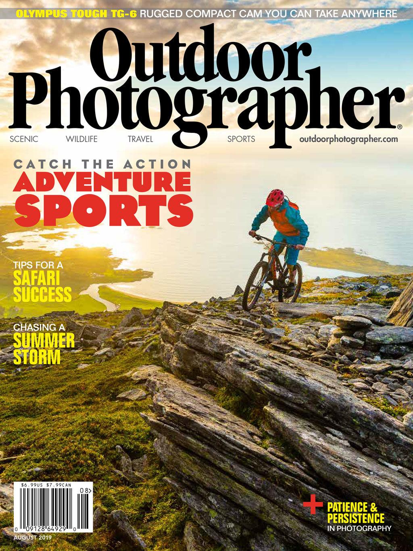Outdoor Photographer Magazine, August 2019, The Reward, photo